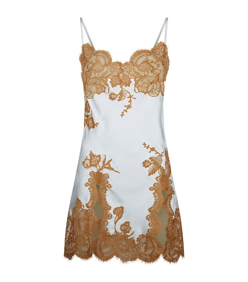 Marjolaine Lace Trim Silk Chemise available to buy at Harrods. Shop designer  nightwear online and earn Rewards points. 7bad99758