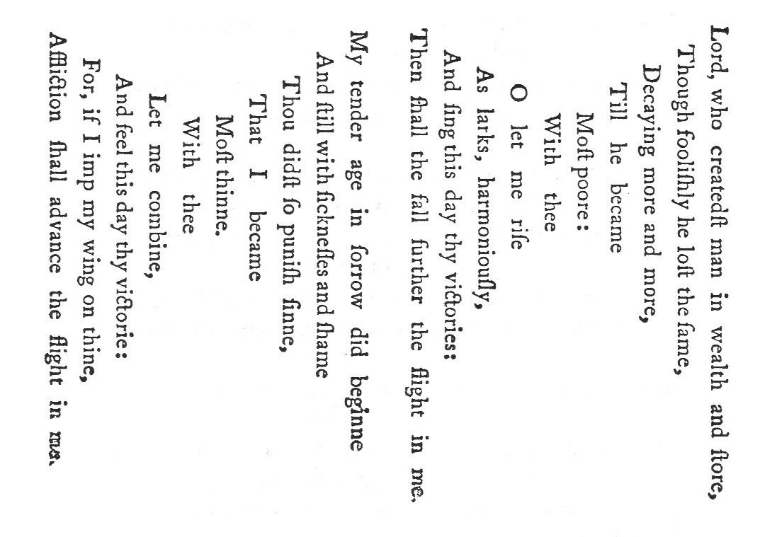 A concrete poem {'Easter Wings'} by early-17th-century