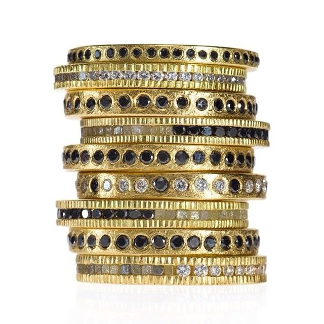 They say that #stacksarethenewblack, but what do they say about black stacks? #toddreedjewelry