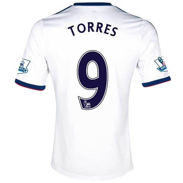 13-14 Chelsea #9 TORRES White Away Soccer Jersey Shirt