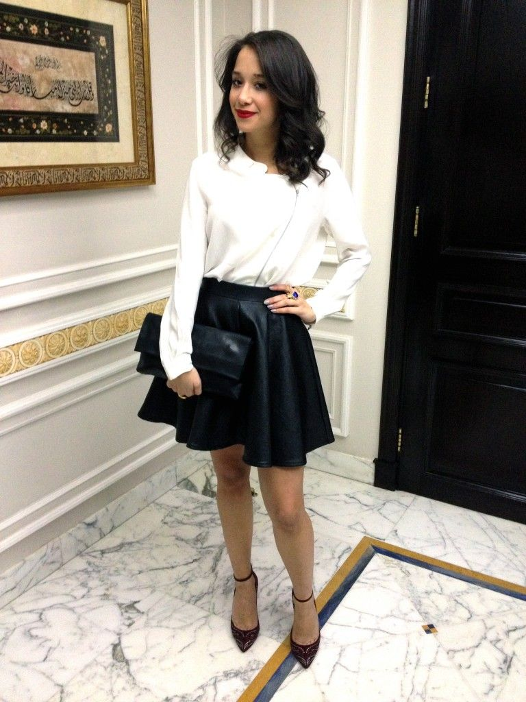 how to wear a leather skirt [10 pics] | my style | pinterest