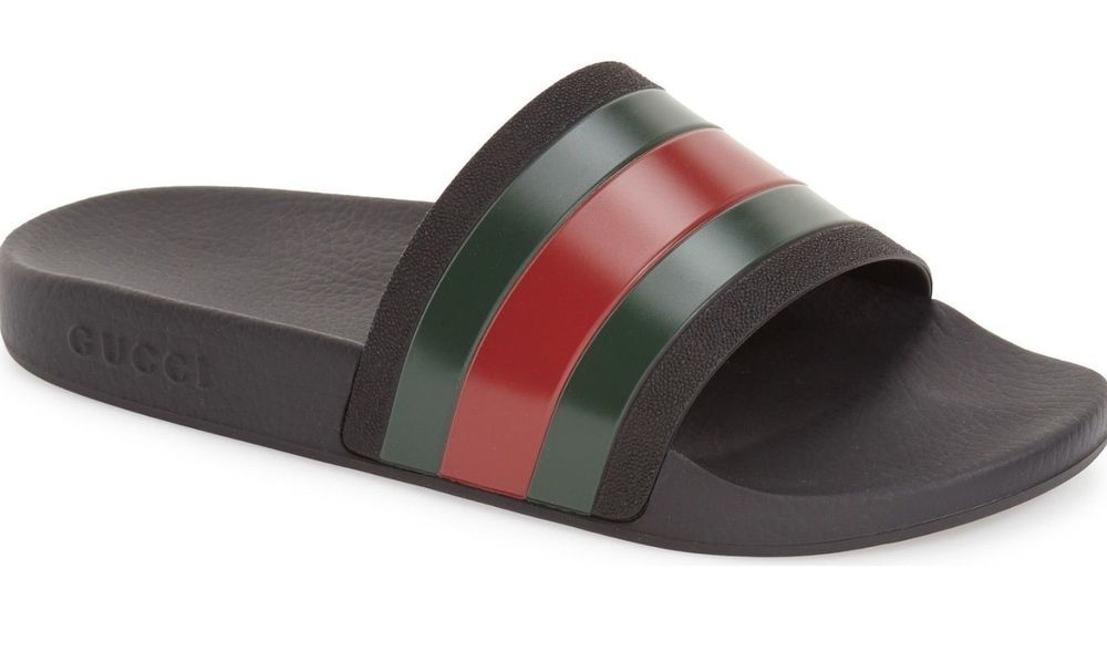 361e0bcb627  295.00 Gucci Rubber Slide Sandal Made in Italy Shoes 10   43
