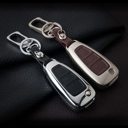 Leather Car Styling Key Cover Case Auto Accessories For Ford Fiesta Focus 2 3 St Mondeo Kuga Ecosport Ranger Escape Leather Key Case Key Covers Leather Fob