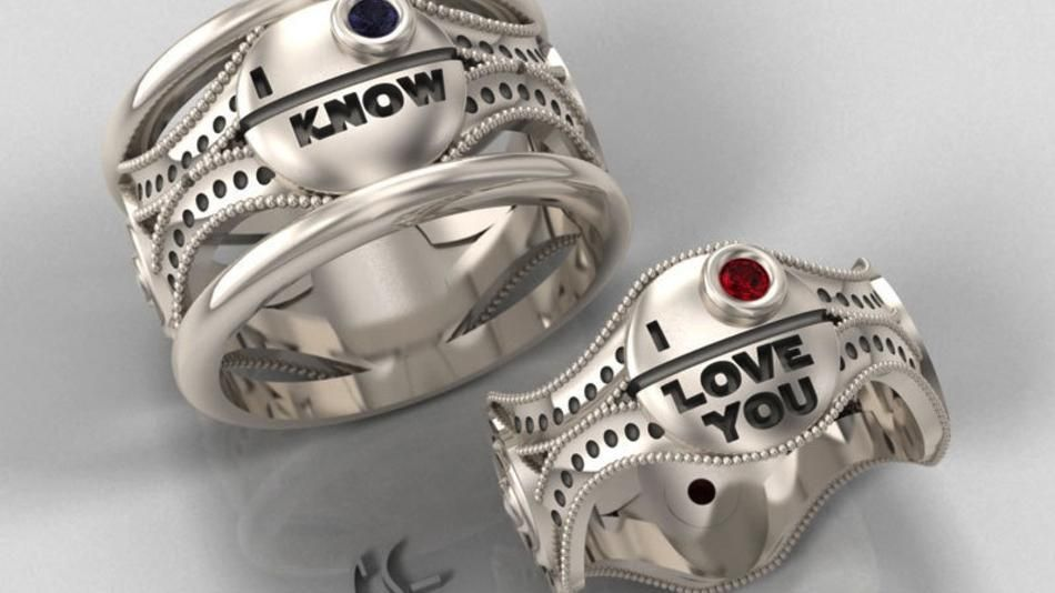 The Force Is Strong With Star Wars Engagement Rings Star Wars Engagement Rings Star Wars Jewelry Star Wars Ring