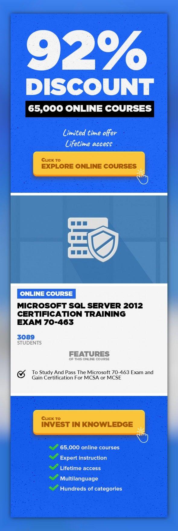 Microsoft Sql Server 2012 Certification Training Exam 70 463