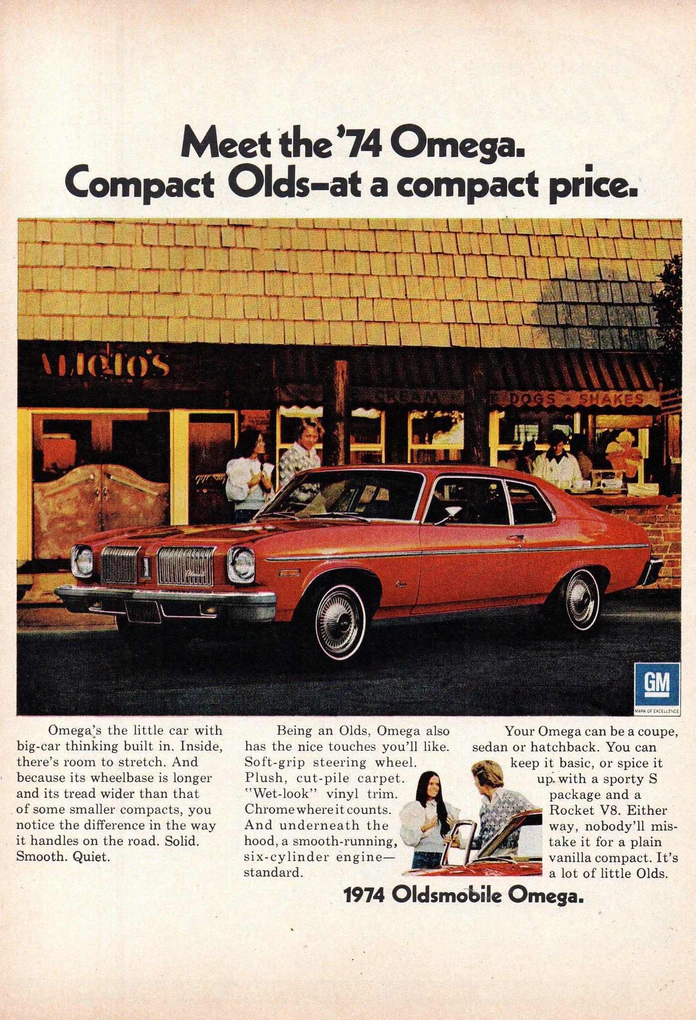 1974 Oldsmobile Omega Coupe Usa Original Magazine Advertisement Oldsmobile Car Advertising Coupe
