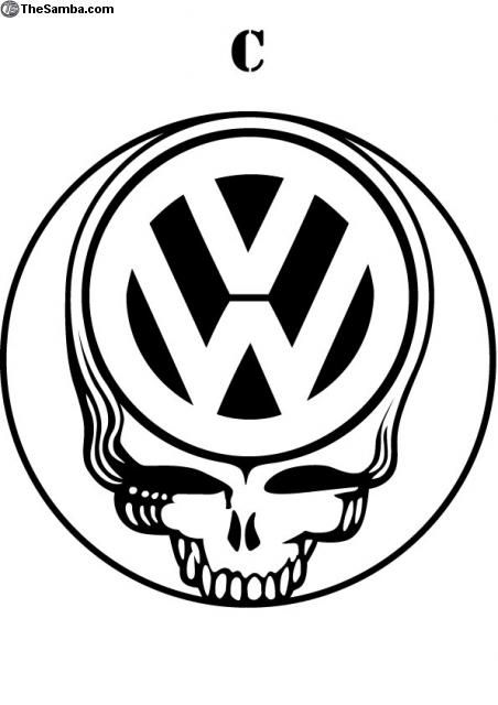 VW stealie sticker from thesamba com | My obsession with