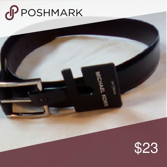 Michael Kors belt Black new never used Michael Kors belt 32 inch waist... Michael Kors Accessories Belts