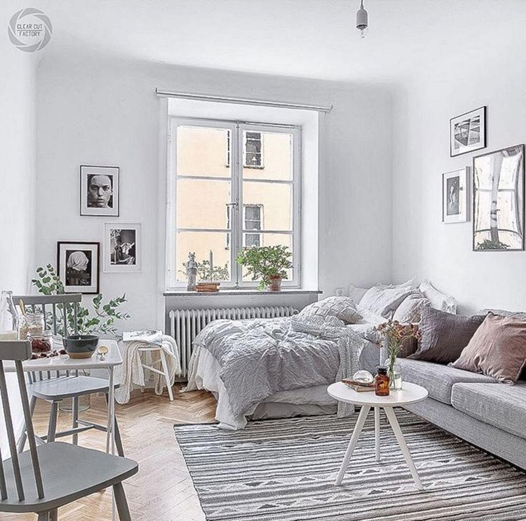 Best 20 Gorgeous Minimalist Studio Apartment Decoration Ideas 400 x 300