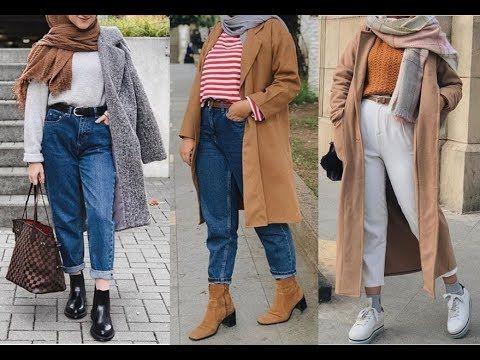 d8b707d6d تنسيق ملابس محجبات كاجوال للشتاء 2019 Winter Csual Hijab Lookbook ...