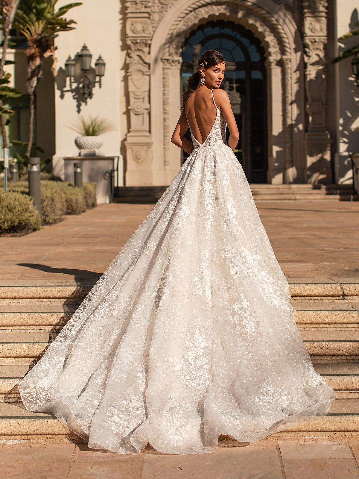 Shimmering Floral Lace Beaded A Line Wedding Gown H1451 In 2020 Sparkly Wedding Dress A Line Wedding Dress Aline Wedding Dress