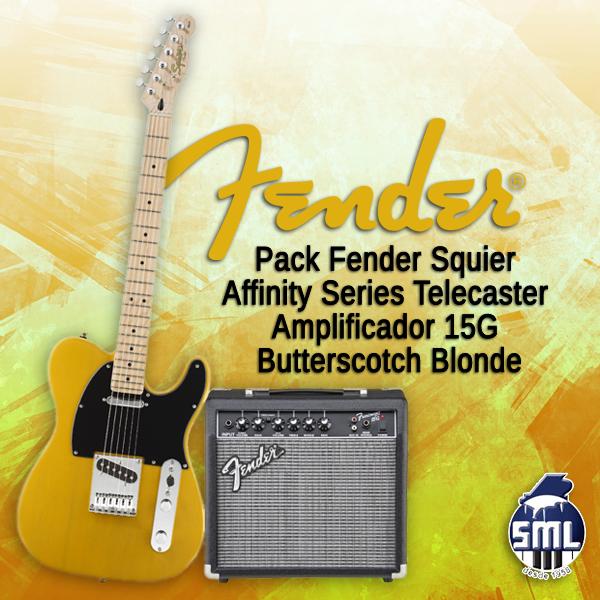 Bom dia! Um pack da Fender com guitarra, amplificador e acessórios é o ideal para começar a tocar. Veja este pack aqui http://www.salaomusical.com/pt/packs/1094-pack-fender-squier-affinity-series-telecaster-amplificador-15g-butterscotch-blonde.html