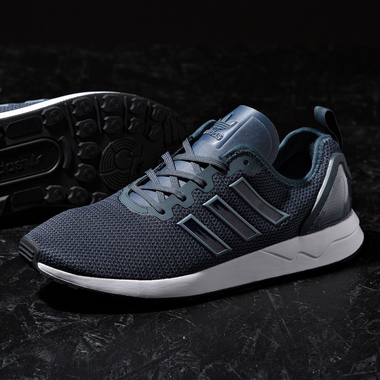 Unisex Adidas Zx Flux Breathable Running Deep Shoes Black Blue Casual Best Shopping