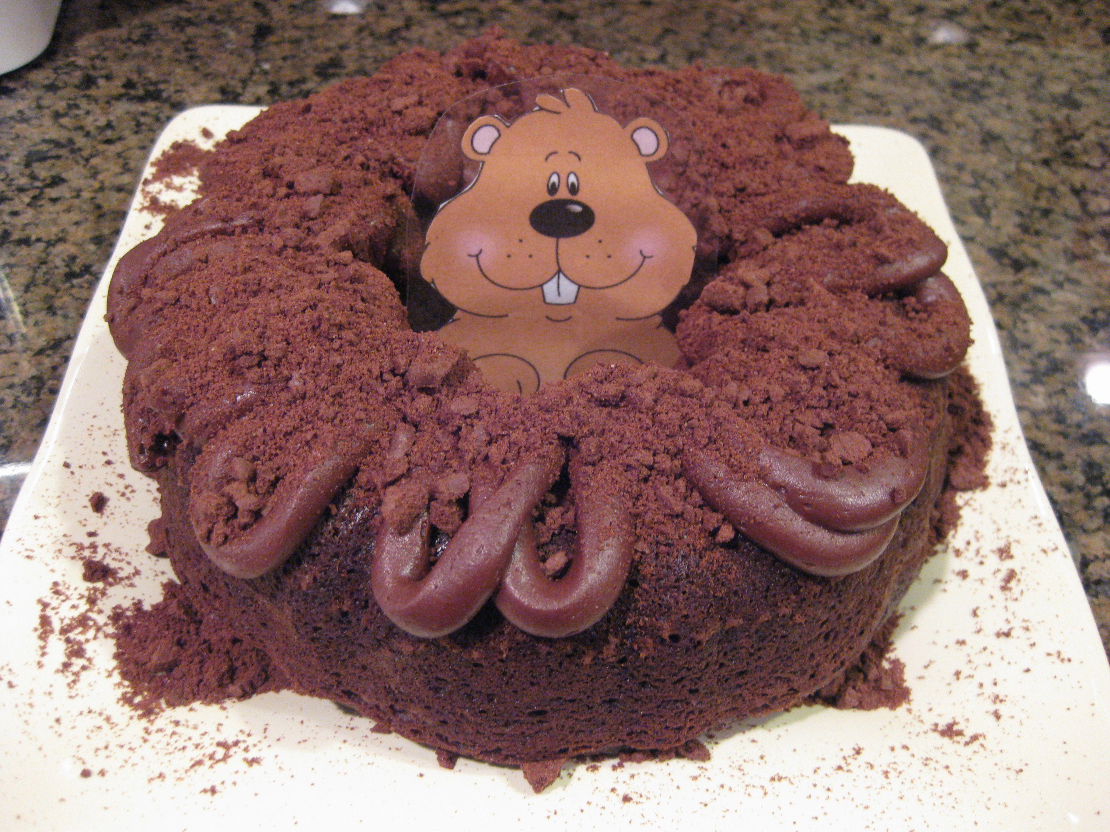 Groundhog Cake Christina Shrimplin For Danny
