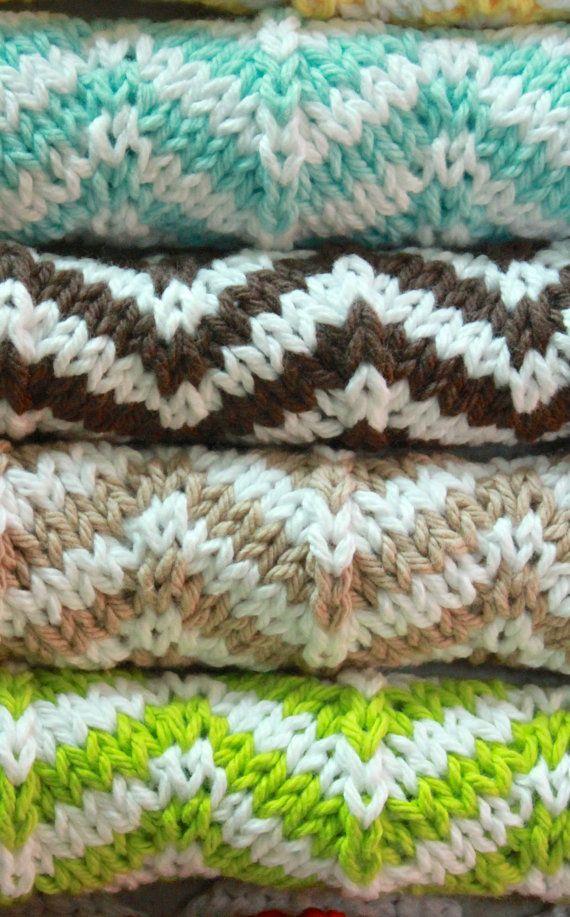SALE knit chevron dishcloth PATTERN instant by AtoZucchiniKnits ...