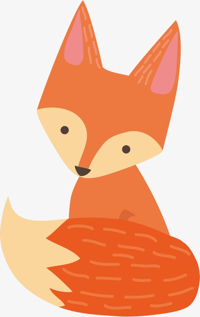 Vector Cartoon Fox Animais Dos Desenhos Animados Desenho Pintado