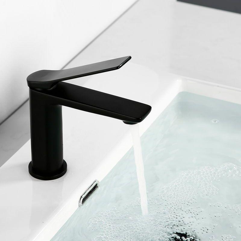 EinhebelWaschtischmischer Wasserhahn Bad Schwarz