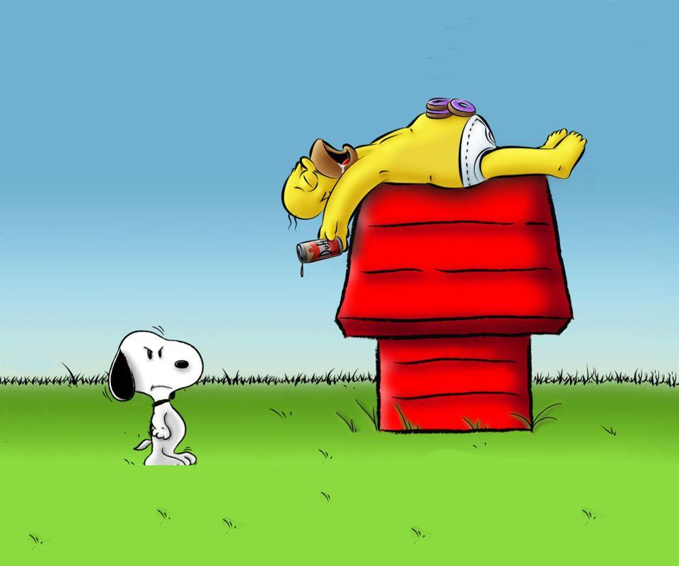 SNOOPY & HOMER Simpson Desenhos animados engraçados