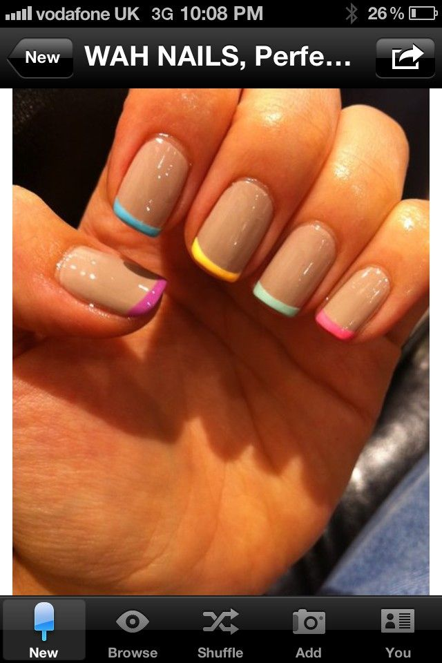 fun french manicure | Beauty | Pinterest | Fun french manicure ...