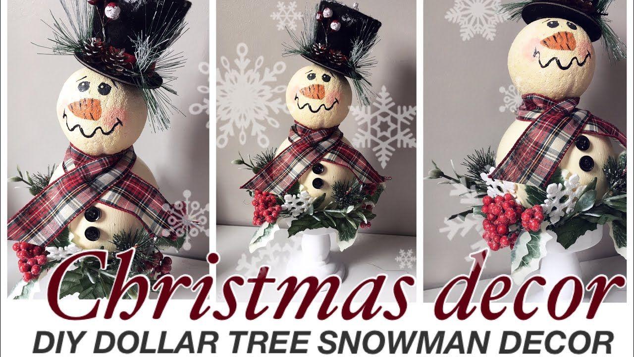 DOLLAR TREE DIY Christmas 2019 decor rustic snowman