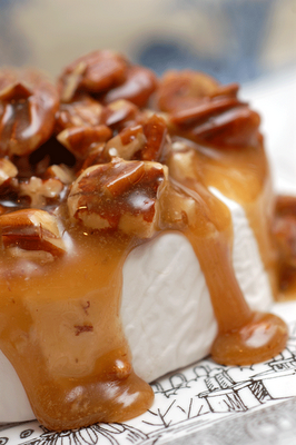 Pecan Caramelized Brie - Easy & Incredible!