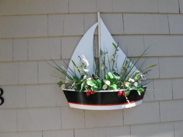 Sailboat Planters Sail Boat Planter Green Thumb Pinterest