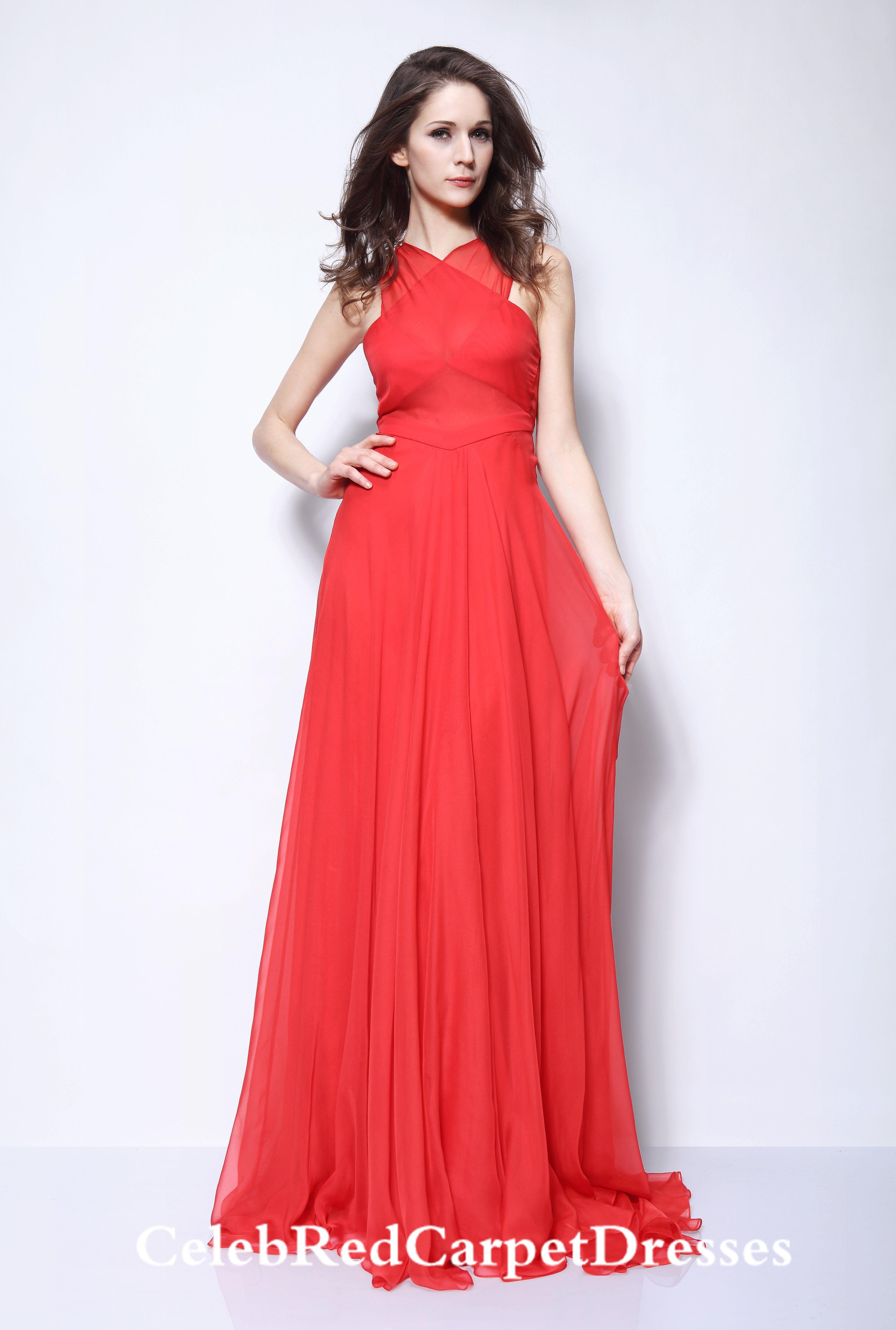 Rihanna Red Dress at Grammy Awards 2013 | Chiffon evening ...