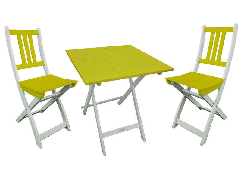 cool Ensemble table et chaises rectangulaire BURANO coloris vert - Conforama Tables De Cuisine