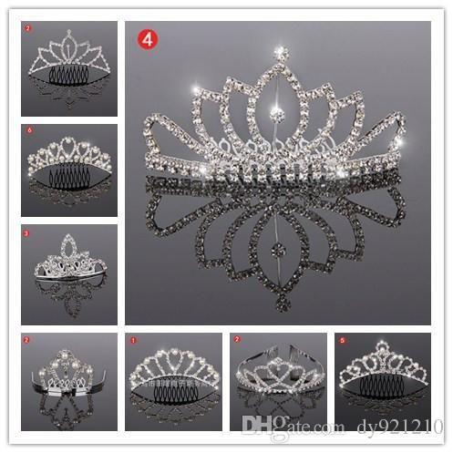 Bride Children Rhinestone Tiara Comb Crown Tiara Crystal Hair Jewelry Assorted Styles Free, $20.95   DHgate.com