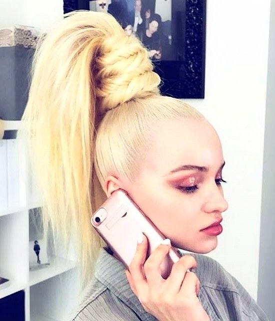 You Need to See Dove Cameron's Truly Insane '80s Ponytail