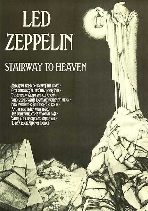 Stairway to Heaven artwork, inside the fourth untitled album