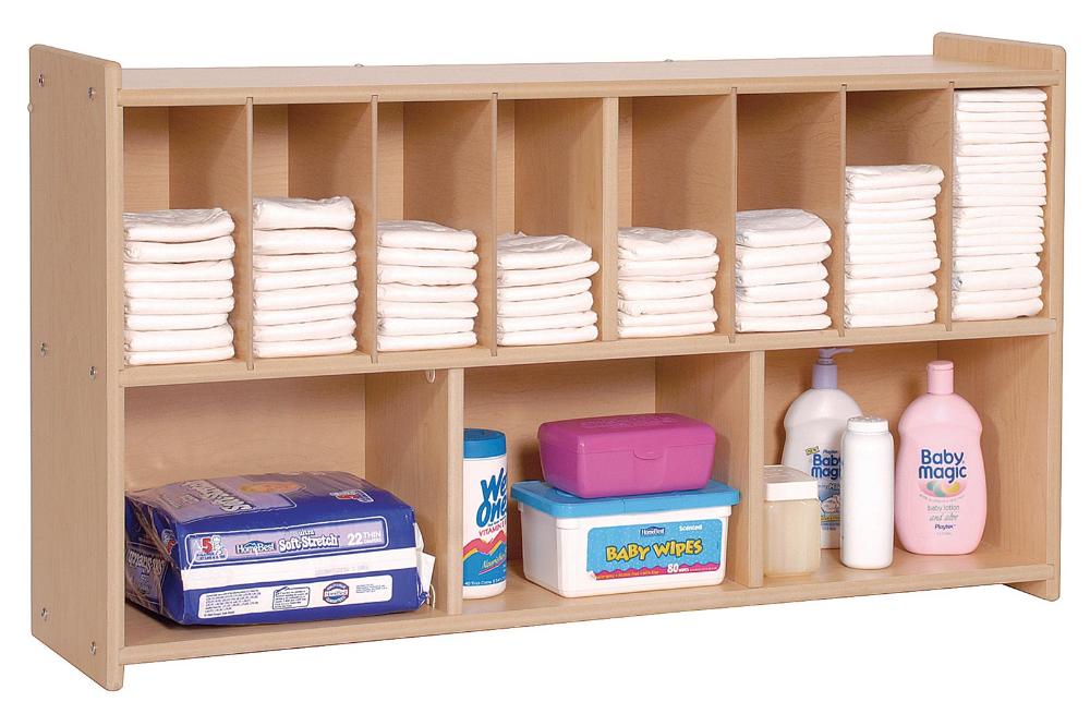 Value Line Wall Diaper Shelf Children S Factory Daycare Furniture Diaper Shelf Daycare Decor