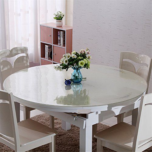 Best Kitchen Cart Discoverdecor Multi Size Custom Round 15mm Thickness Clear Pvc Table Protector Table Cover Tablecloth 36 Inch Dining Table Glass Round Dining Table Glass Top Dining Table