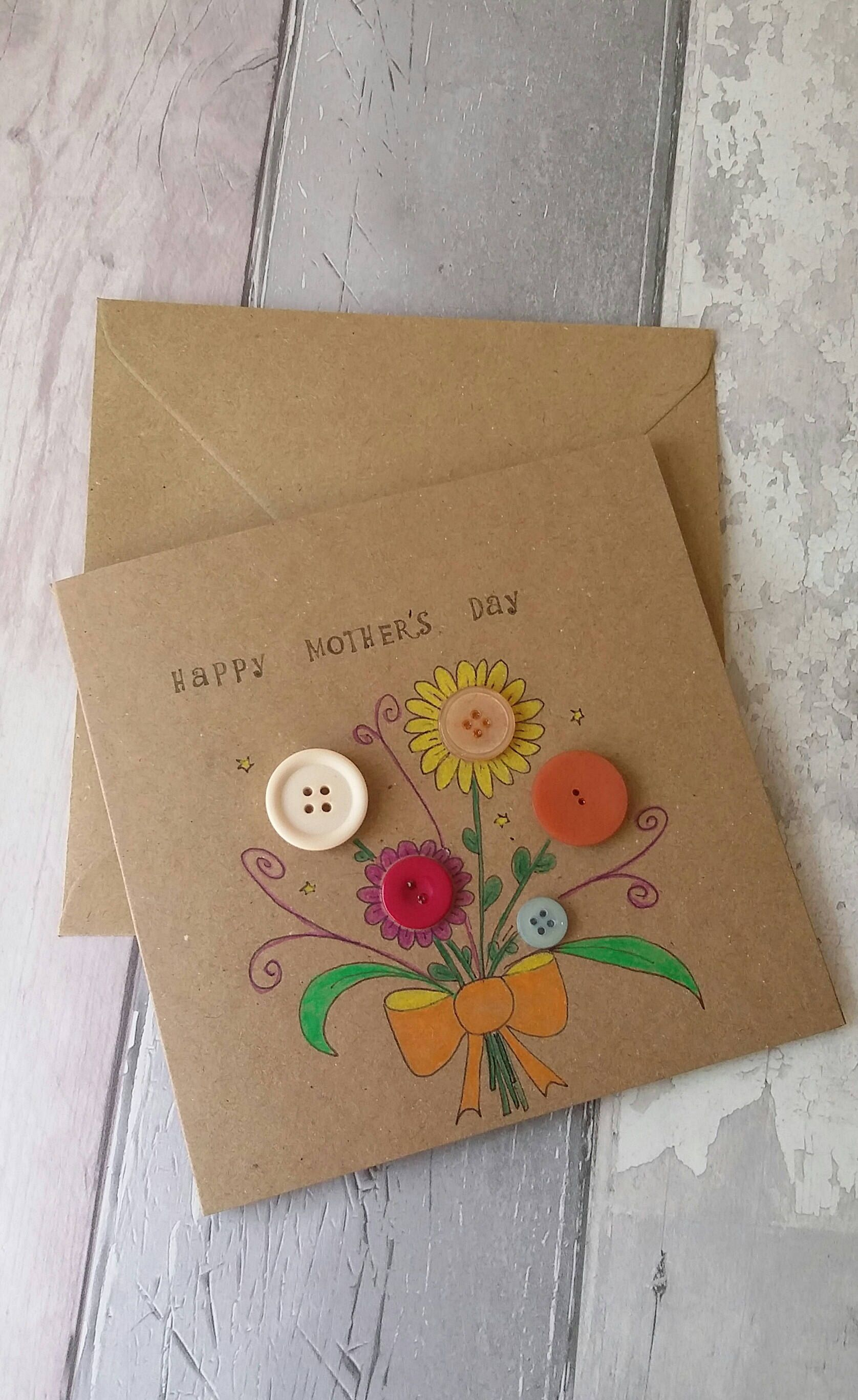 Mothers Day Card Hand Made Card Botanical Art Card Unusual