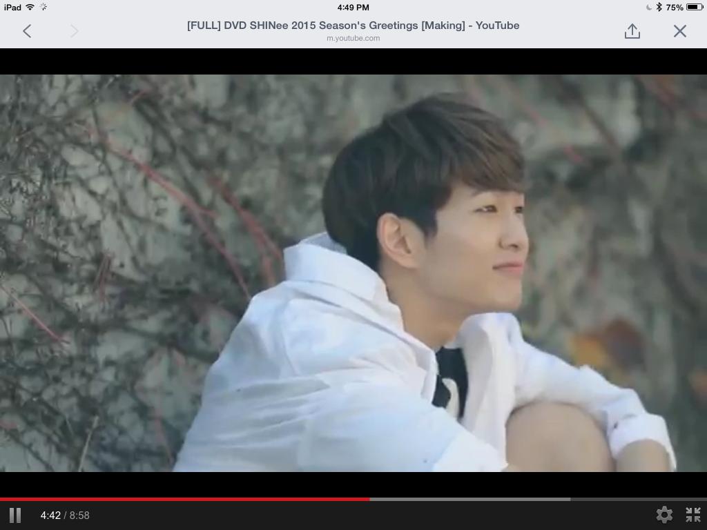 Shinee Onew 2015 Seasons Greetings Making Shinee Pinterest