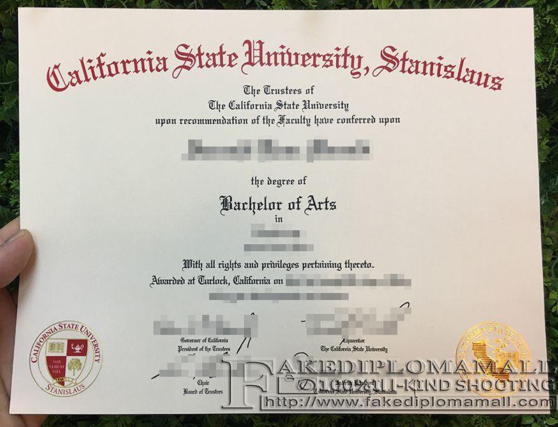 CSU Stanislaus Fake Degree Where To Buy CSU Stanislaus Fake Diploma