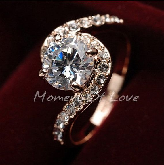 Amber Rose Engagement Ring Size 33 Happily Ever After Pinterest
