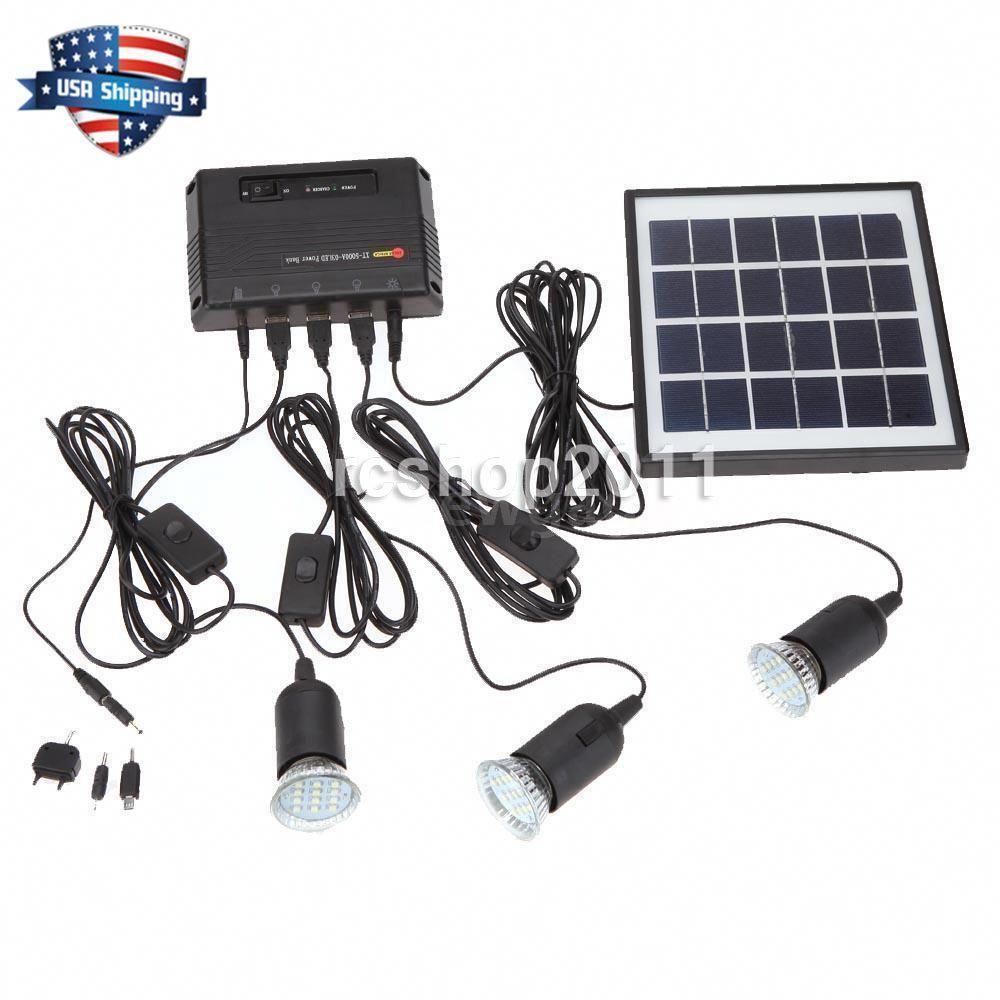 4w Outdoor Solar Power Panel Led Light Lamp Charger Garden Home System Kit Usa Ebay Solarpanels Solarenergy In 2020 Solar Power Panels Solar Projects Outdoor Solar