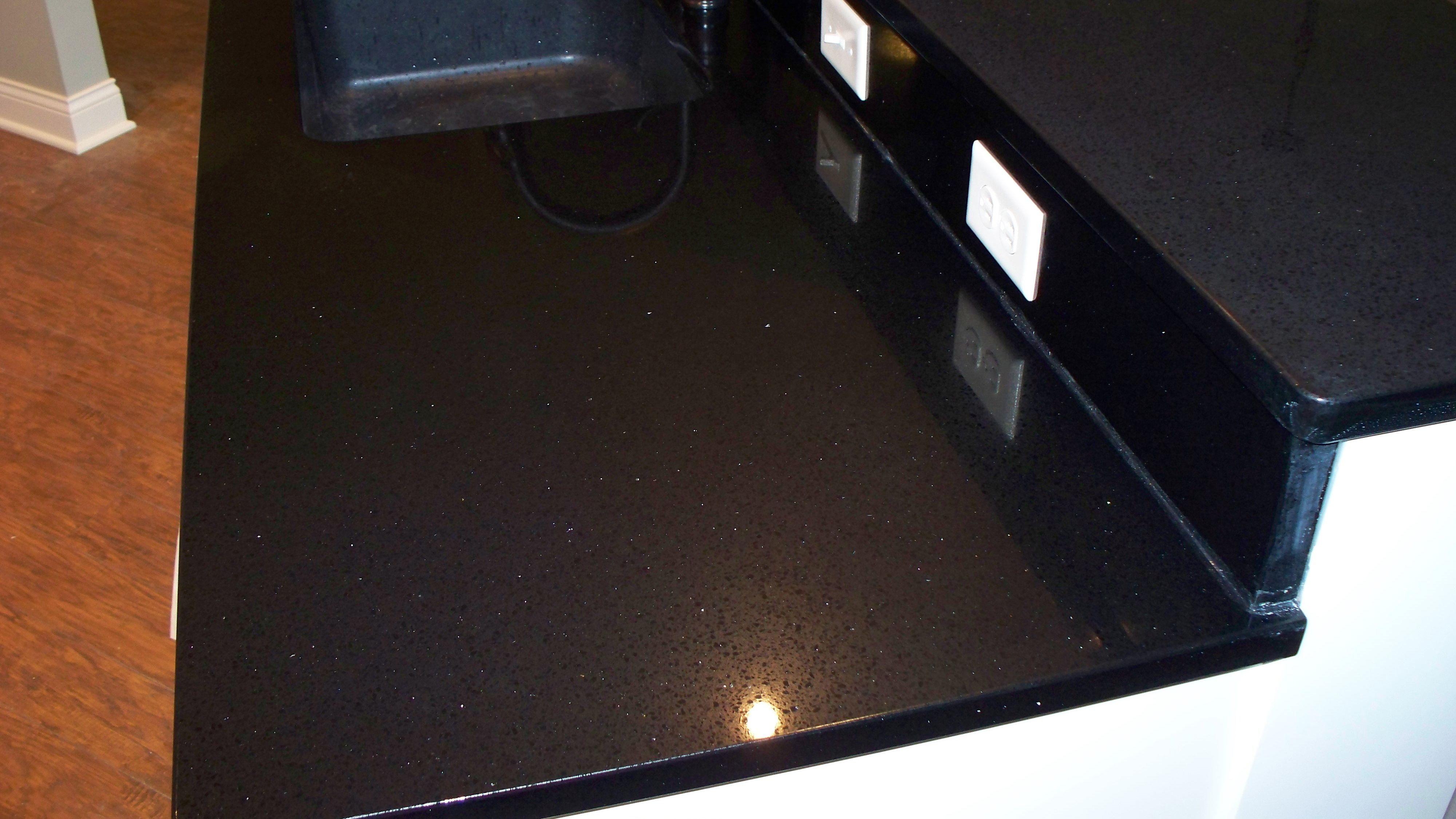 Historystone Supply Jet Black Artificial Quartz Countertop And