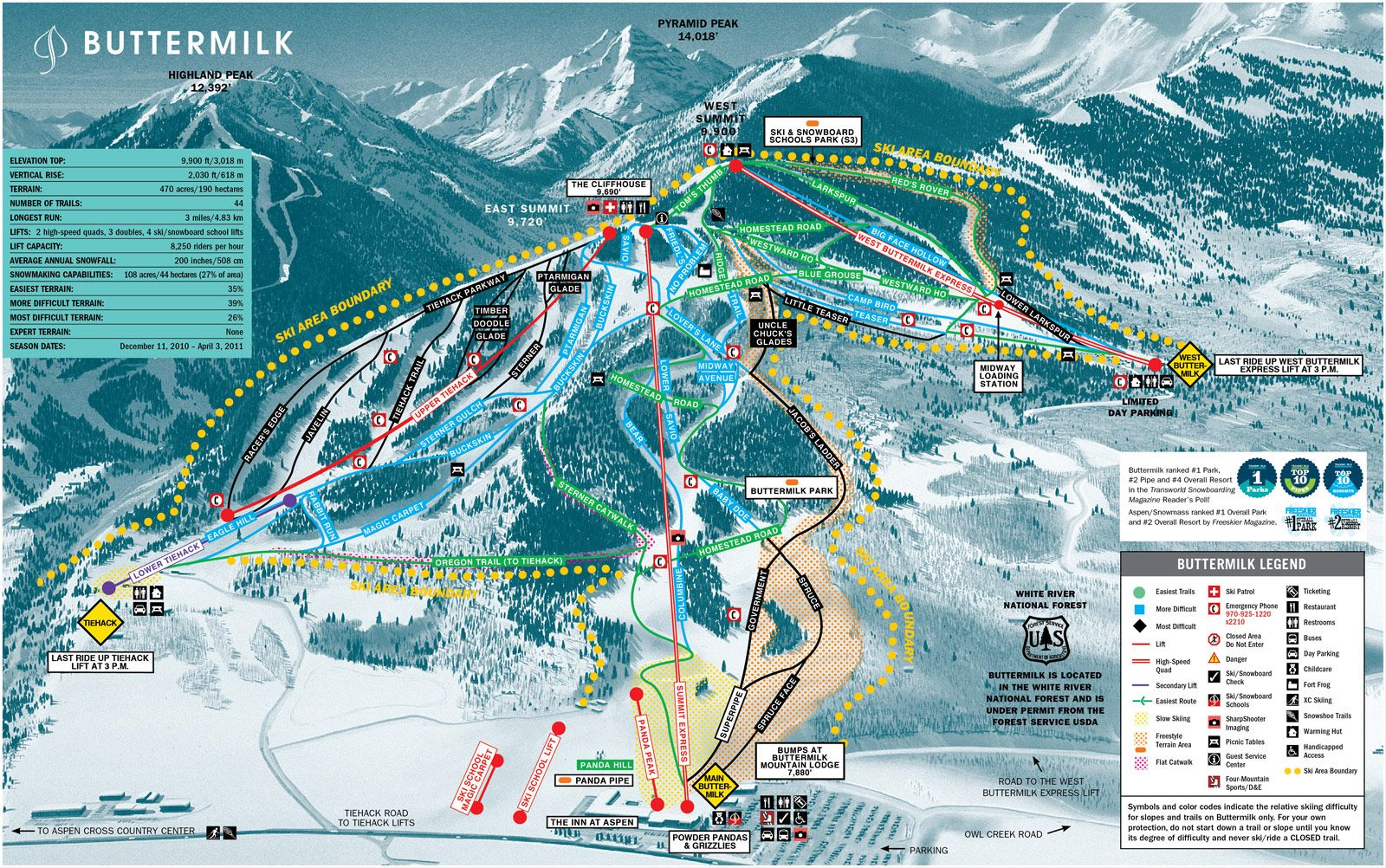 Apsen Colorado Buttermilk Trail Map Places Ive Snow Skied - Map of colorado ski resorts and cities