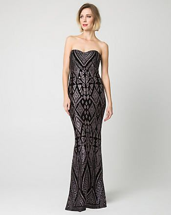 Sparkle Knit Slip Gown, Le Chateau, Kingsway Mall | License to ...