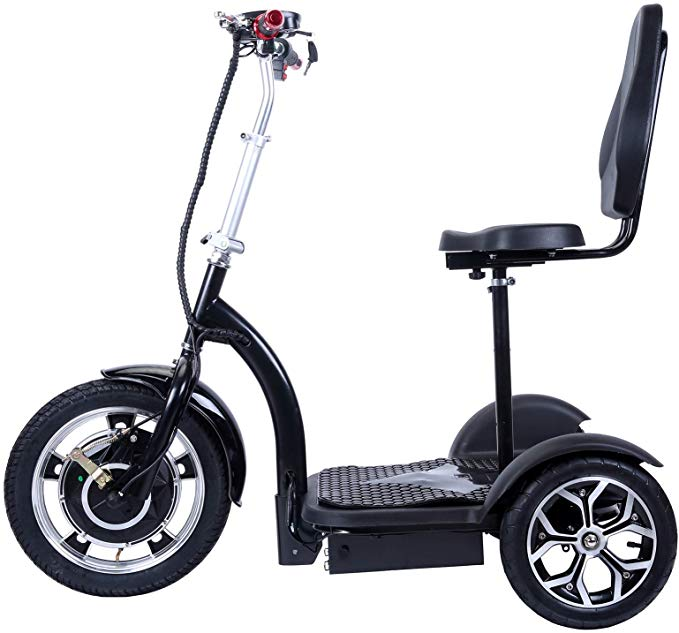 Amazon Com City Hopper 3 Wheel Electric Scooter With 16 Inch Front Wheel 500w Brushless Motor And 48v 12ah Batte In 2020 Electric Scooter 3rd Wheel Stationary Bike