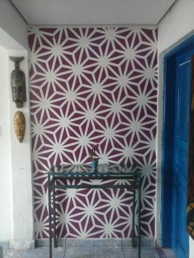 Técnica de pintura utilizando fita crepe