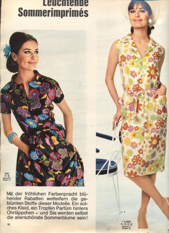 BURDA MODEN 1964 07 | 60s dresses | Pinterest | Retro vintage and ...