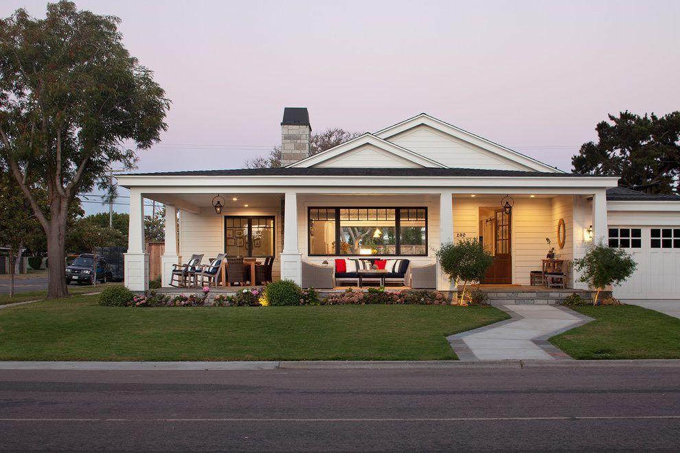 san diego one story house exterior farmhouse with single