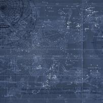 Star Map wallpaper mural designed by M. KORN