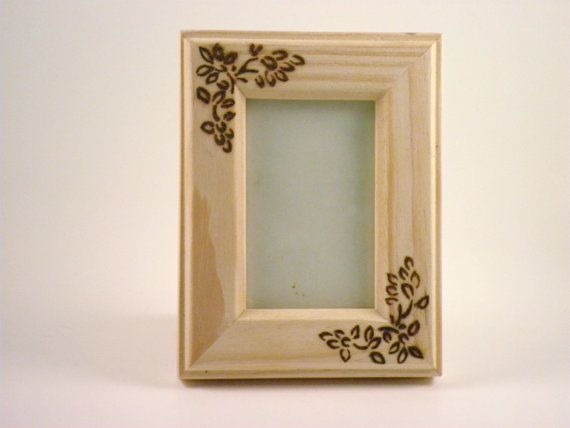 Pyrography Small Wooden Picture Frame