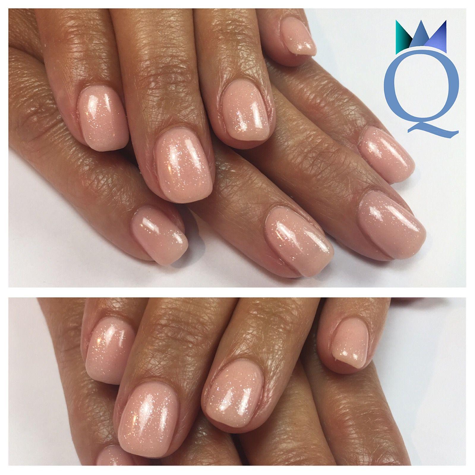 shortnails #gelnails #nails #nude #glitter #kurzenägel #gelnägel ...