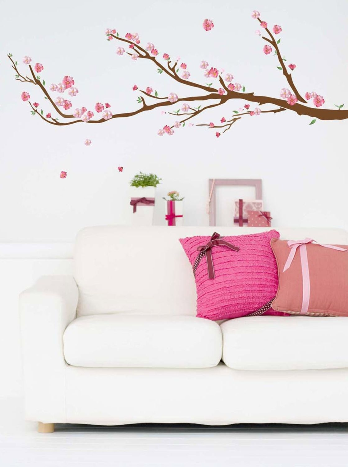 Cherry blossom peel n stick wall decals