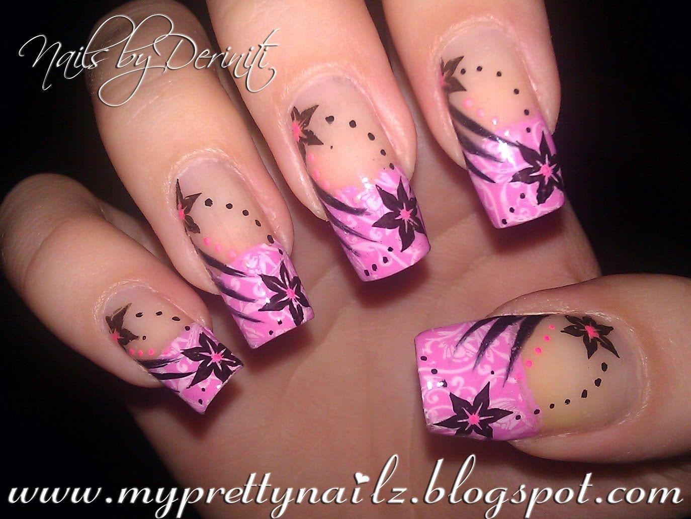 pink french tip nail designs | maxresdefault | nail art